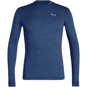 SALEWA Puez Melange Dry Longsleeve T-shirt Heren, blauw